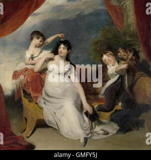 Maria Mathilda Bingham with Two of her Children, by Thomas Lawrence, c. 1810-18, oil on canvas. The painting previously - Stock Photo