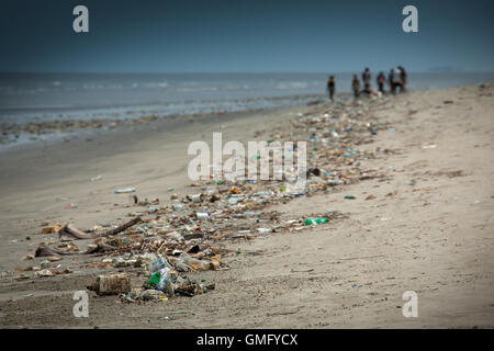 Yongoro, Sierra Leone - June 10, 2013: West Africa, the beaches of Yongoro in front of Freetown - Stock Photo