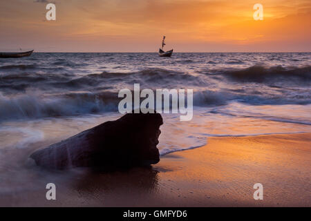 Yongoro, Sierra Leone - June 05, 2013: West Africa, the beaches of Yongoro in front of Freetown - Stock Photo