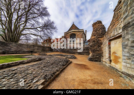 Wolvesey Castle in Winchester, Hampshire - Stock Photo