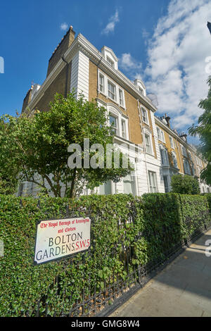 The Boltons, Bolton Gardens, expensive property London - Stock Photo