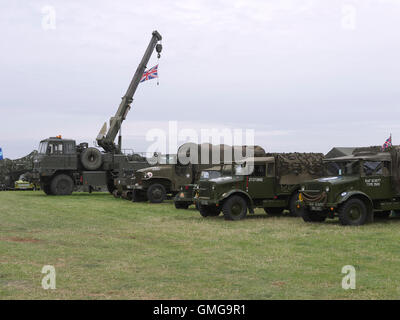 World War two military vehicles on display at Rauceby war weekend - Stock Photo