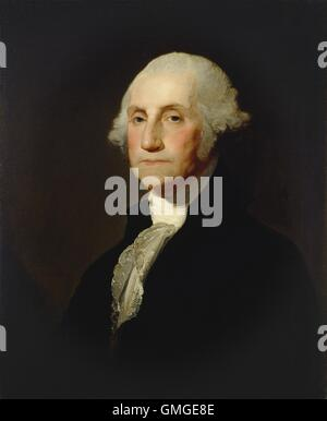 George Washington, by Gilbert Stuart, c. 1803-05, American painting, oil on canvas. In 1796 Washington sat for Stuart - Stock Photo