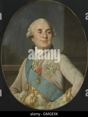 Portrait of Louis XVI, King of France, by Joseph Siffrede Duplessis, c. 1777-89, Dutch painting, oil on canvas. - Stock Photo