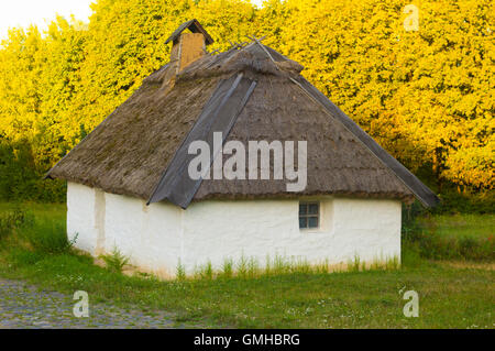 Old Traditional Rural House on Natural Background - Stock Photo