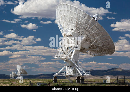 Datil, New Mexico - The Very Large Array radio telescope consists of 27 large dish antennas in western New Mexico. - Stock Photo