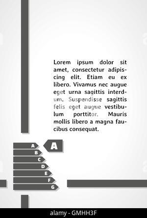 energy label dark infographics - Stock Photo