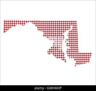 Outline map of the state of Maryland Stock Photo Royalty Free