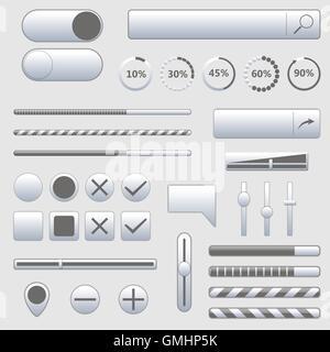 Set of web elements, vector illustration. - Stock Photo