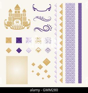 Corporate Identity Design Elements in Mid-Century Style - Stock Photo
