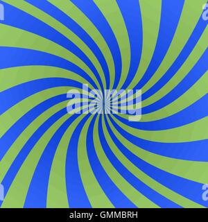 Green and blue spiral design background - Stock Photo