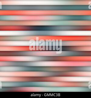 Vector Seamless Gradient Mesh Horizontal Parallel Lines in Shades of Blue And Pink - Stock Photo