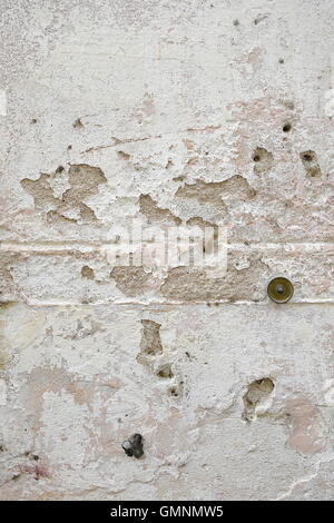 Full frame shot of old weathered concrete wall background - Stock Photo