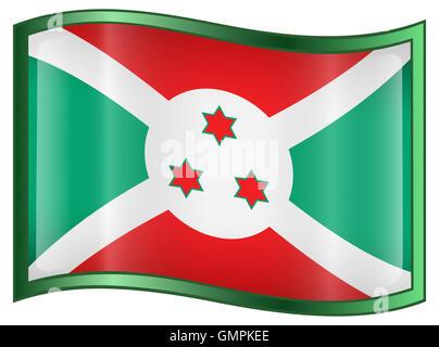 Burundi Flag icon. - Stock Photo