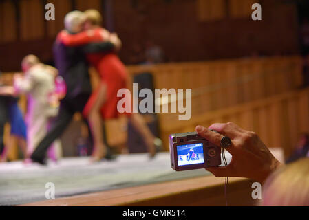 Buenos Aires, Argentina - 14 May 2016: Spectator during the round of the Tango, at the City Tango Dance Championship. - Stock Photo