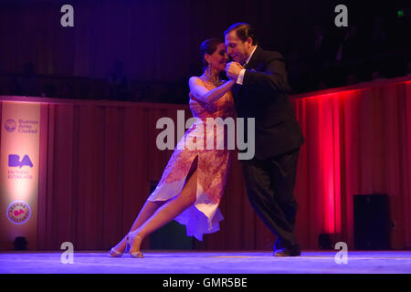 Buenos Aires, Argentina - 14 May 2016: Couple performs during the City Tango Dance Championship. - Stock Photo
