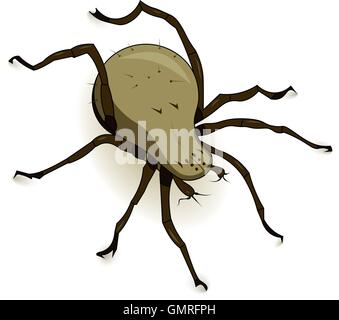 Vector Dust Mite Parasite - Stock Photo