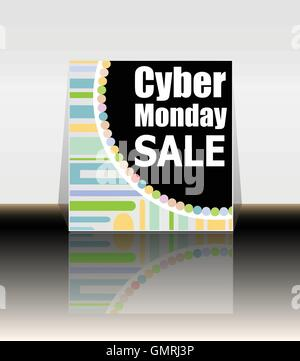 Cyber Monday banner design. Cyber monday sale concept. Vector illustration - Stock Photo