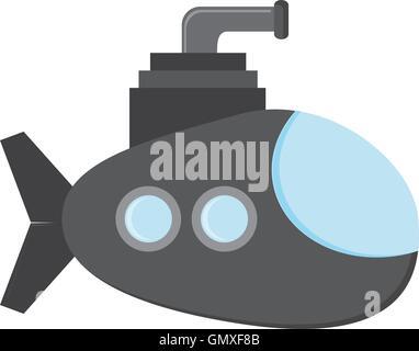 small submarine icon - Stock Photo