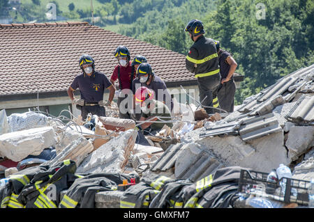 Rome, Italy. 25th Aug, 2016. The earth continues to tremble in Amatrice (Rieti) after the earthquake of magnitude - Stock Photo