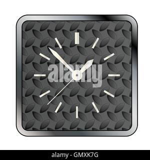 Metal Tread Clock Face - Stock Photo