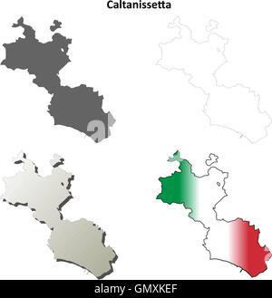 Map of Italy Caltanissetta Stock Vector Art Illustration Vector