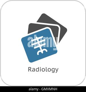 Radiology and Medical Services Icon. Flat Design. - Stock Photo