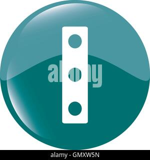 modern glossy web icon depicting a traffic light icon vector illustration - Stock Photo
