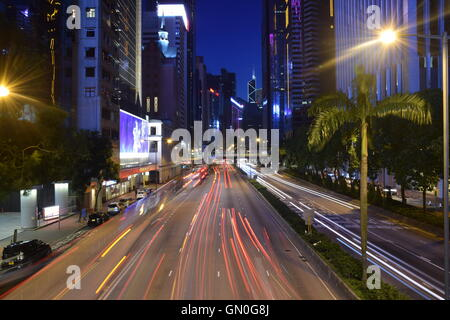 Skyscrapers in Wan Chai district, Hong Kong S.A:R., China - Stock Photo