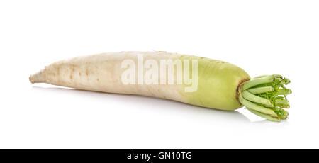 radish isolated on white background - Stock Photo