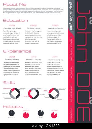modern curriculum vitae cv resume template design with vivid