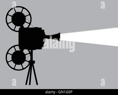 Movie Cine Projector - Stock Photo