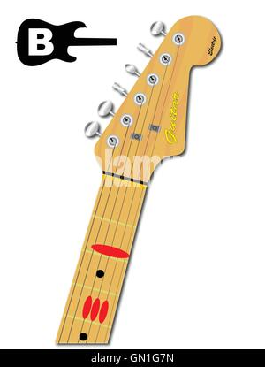 The Guitar Chord Of E Major Stock Vector Art & Illustration, Vector ...