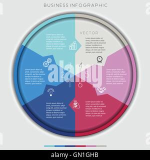 Multi-coloured Circle Numbered, Six Options, For Infographic, Diagramme, Technological Process, Business Concept - Stock Photo