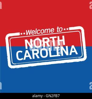 Welcome to NORTH CAROLINA of US State illustration design - Stock Photo