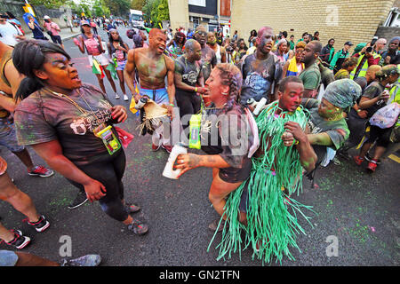 London, UK. 28th August 2016. Participants enjoying Children's Day at the Notting Hill Carnival in London Credit: - Stock Photo