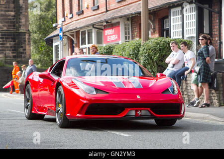 Ferrari 458 Speciale AB S-A at Motorfest in Ormskirk, Lancashire, UK. 28th Aug 2016.  The festival is held in the - Stock Photo