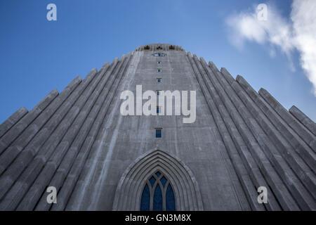 Hallgrimskirkja Church, Reykjavik, Iceland - Stock Photo
