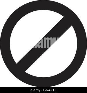 prohibition sign, web icon. vector design - Stock Photo