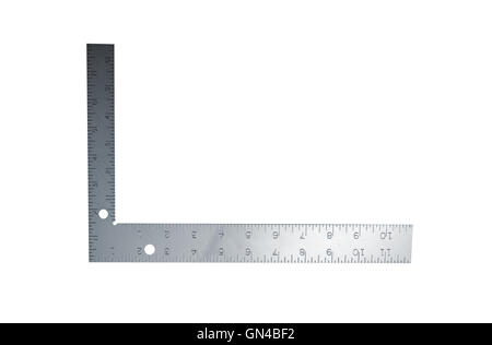Metal angle on a white background - Stock Photo