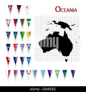 Flags of Oceania - Stock Photo