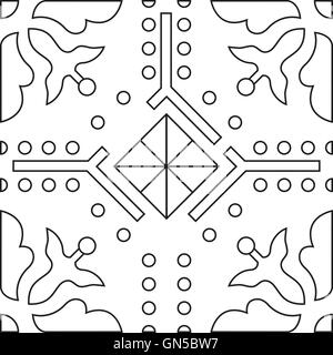 unique coloring book square page for adults seamless pattern tile stock photo - Unique Coloring Books