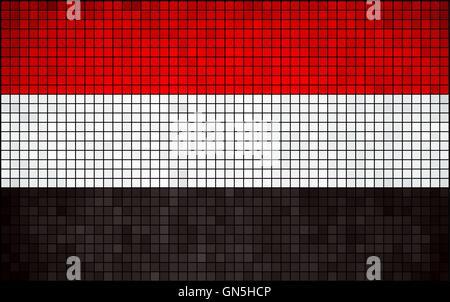 Flag of Yemen - Stock Photo