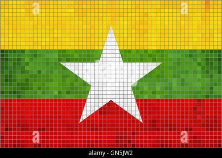 Flag of Myanmar - Stock Photo