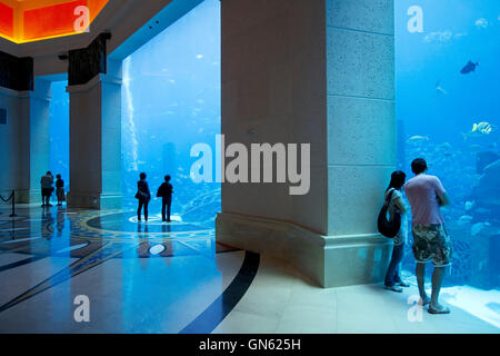Atlantis hotel in Palm Jumeirah, Dubai, United Arab Emirates - Stock Photo