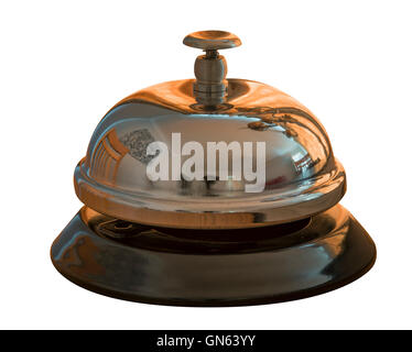 Hotel service bell isolated on a white background - Stock Photo