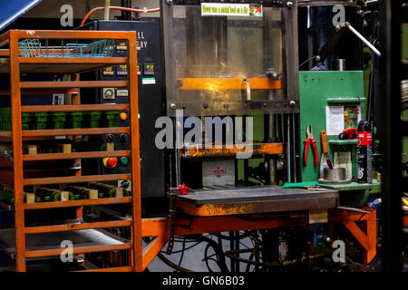 heavy industry injection molding machine - Stock Photo