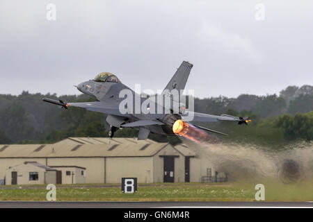 Royal Netherlands Air Force (Koninklijke Luchtmacht) General Dynamics F-16AM Fighter Aircraft. - Stock Photo