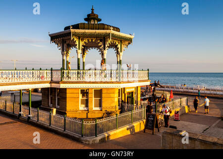 The Victorian Bandstand On Brighton Seafront, Brighton, Sussex, UK - Stock Photo