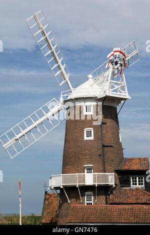 The19th Century windmill at Cley next the Sea in Norfolk - Stock Photo